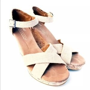 Toms Shoes - Toms Wedge Sandal Size 7.5
